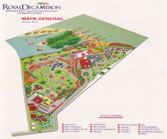 Royal Decameron Baru Beach Resort Map Layout