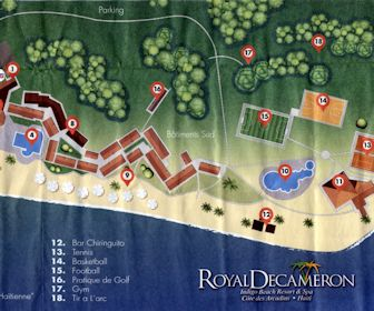 Royal Decameron Indigo Beach Resort Resort Map Layout