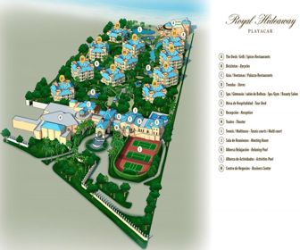Royal Hideaway Playacar Resort Map Layout