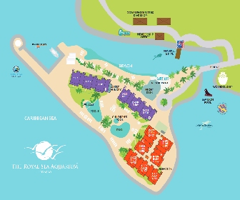 Royal Sea Aquarium Resort Map Layout