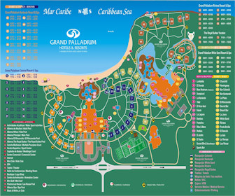 Royal Suites Yucatan by Paladium Resort Map Layout