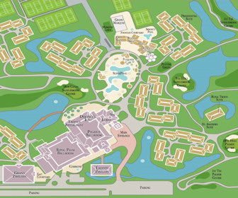 Saddlebrook Resort (center) Map Layout