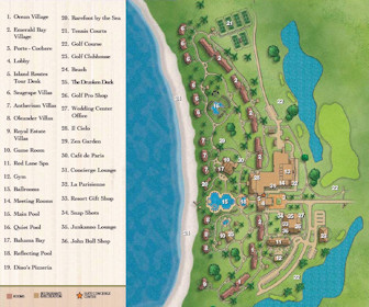 Sandals Emerald Bay Resort Map Layout