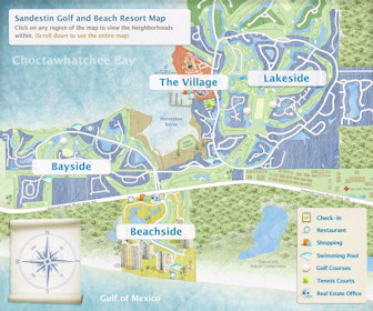 Sandestin Golf and Beach Resort Map Layout