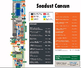 Seadust Cancun Family Resort Resort Map Layout