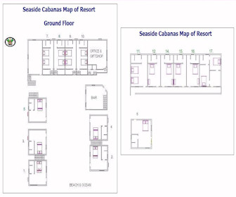 Seaside Cabanas Caye Caulker Resort Map Layout