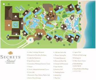 Secrets Akumal Riviera Maya Resort Map Layout