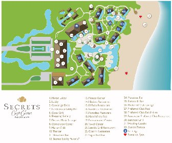 Secrets Cap Cana Resort and Spa Map Layout