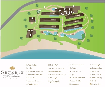 Secrets Huatulco Resort Map Layout