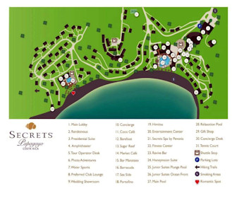 Secrets Papagayo Resort Map Layout