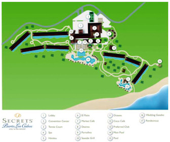 Secrets Puerto Los Cabos Golf & Spa Resort Map Layout