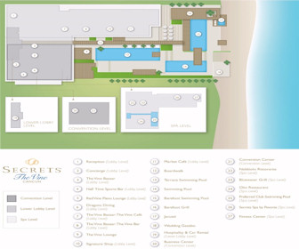 Secrets The Vine Cancun Resort Map Layout