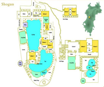 Shogun Mustique Resort Map Layout