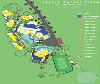 Silent Waters Villa Resort Map Layout