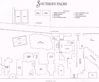 Southern Palms Resort Map Layout