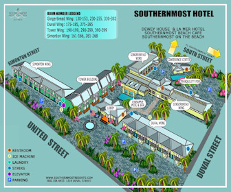 Southernmost Hotel Map Layout