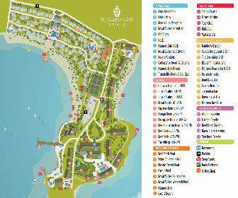 St.James Club & Villas Resort Map Layout
