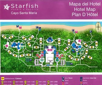 Starfish Cayo Santa Maria Resort Map Layout