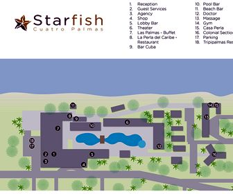 Starfish Cuatro Palmas - Las Palmas Resort Map Layout