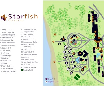 Starfish Varadero Resort Map Layout