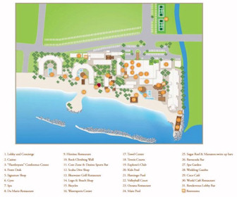 Sunscape Curacao Resort Map Layout