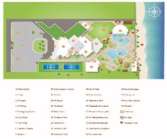 Sunscape Dorado Pacifico Resort Map Layout