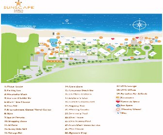 Sunscape Sabor Cozumel Resort Map layout