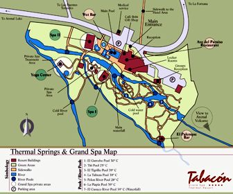 Tabacon Grand Spa Thermal Resort Map Layout