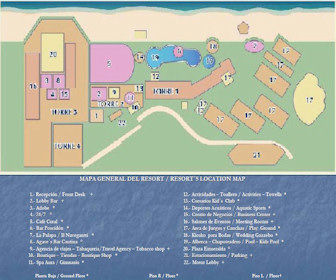 Tesoro Manzanillo Resort Map Layout