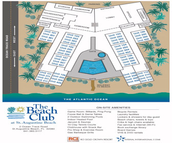 The Beach Club at St.Augustine Map Layout