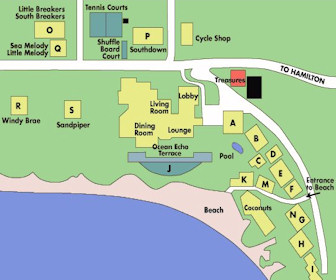 The Reefs Resort Map Layout