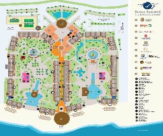 The Royal Haciendas Resort Map Layout