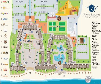 The Royal Sands Resort Map Layout