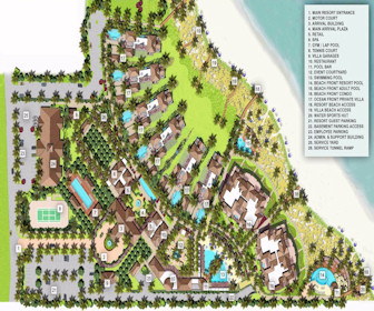 The Shore Club on Long Bay Resort Map Layout