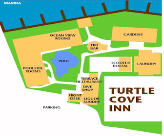 Turtle Cove Inn Resort Map Layout
