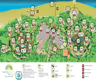 Valentin Perla Blanca Resort Map Layout