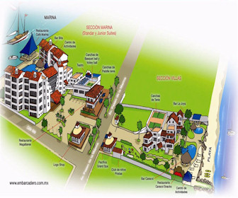 Vamar Vallarta Marina and Beach Resort Map Layout