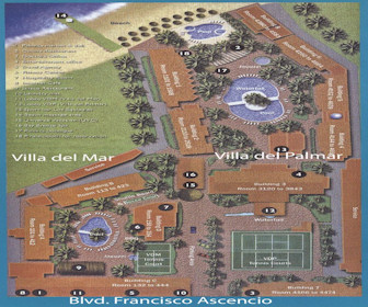Villa del Mar Beach Resort Map Layout