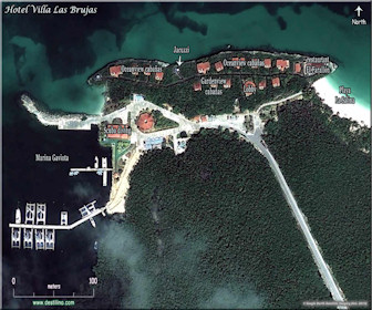 Villa Las Brujas Resort Map Layout