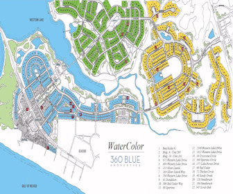 Watercolor Vacation Rentals Map Layout