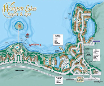 Westgate Lakes Resort & Spa Map Layout