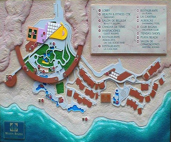 Westin Resort & Spa Los Cabos Map Layout