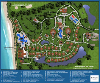 Westin Golf Resort and Spa Playa Conchal Map Layout