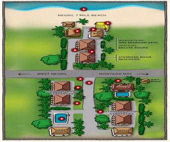 White Sands Negril Resort Map Layout