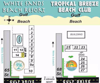 White Sands Beach Resort Map Layout