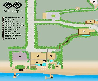 Xbalanque Resort Map Layout