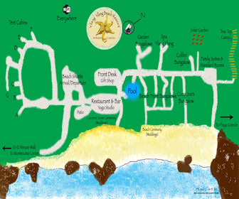 Ylang Ylang Beach Resort Montezuma Map Layout