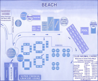 Hotel Akumal Caribe Resort Map Layout