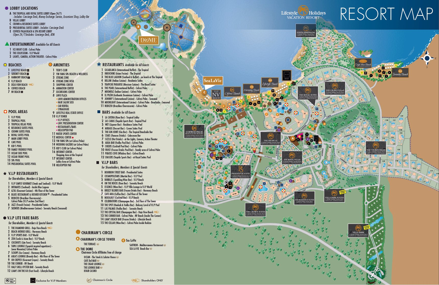 Cofresi Palm Beach Spa Resort Map
